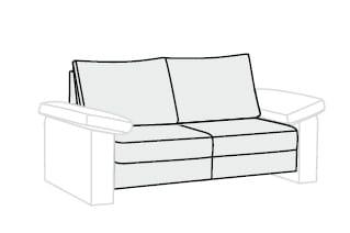 Bali Flexa 3-Sitzer ohne Funktion