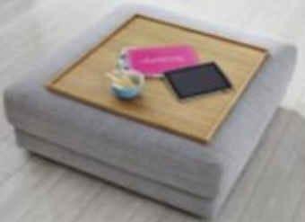 Candy Sofas Kingston Holztablett für Hocker