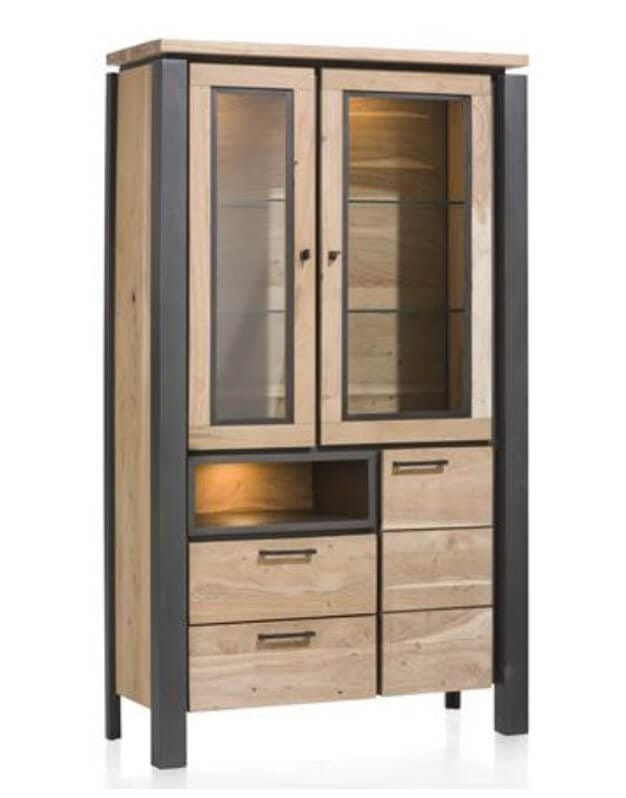 habufa charleston vitrine 36186 bis zu 50 reduziert. Black Bedroom Furniture Sets. Home Design Ideas