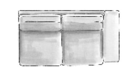 Habufa Sofas Sydney 2,5-Sitzer Armlehne rechts