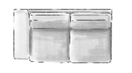 Habufa Sofas Sydney 2,5-Sitzer Armlehne links