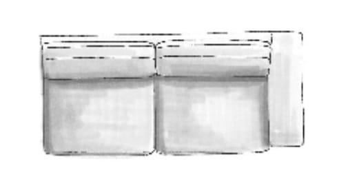 Habufa Sofas Sydney 3-Sitzer Armlehne rechts