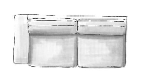 Habufa Sofas Sydney 3-Sitzer Armlehne links