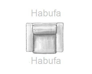 Habufa Sofas Sydney 1.5-Sitzer - fest