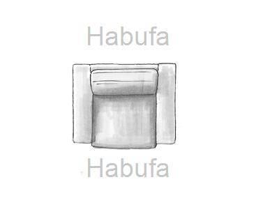 Habufa Sofas Sydney 1.5-Sitzer - verstellbar