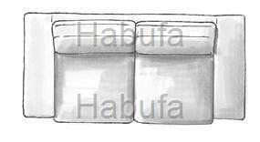 Habufa Sofas Sydney 2-Sitzer - verstellbar