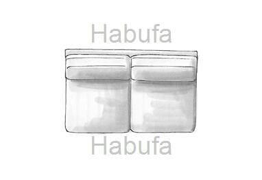 Habufa Sofas Sydney 2-Sitzer ohne Armlehnen - verstellbar
