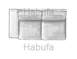 Habufa Sofas Sydney 2.5- Sitzer - Armlehne links - fest