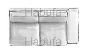 Habufa Sofas Sydney 2.5- Sitzer - Armlehne rechts - verstellbar