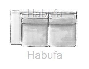 Habufa Sofas Sydney 2.5- Sitzer - Armlehne links - verstellbar
