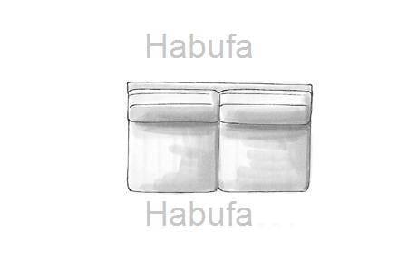 Habufa Sofas Sydney 2.5- Sitzer - ohne Armlehnen - verstellbar