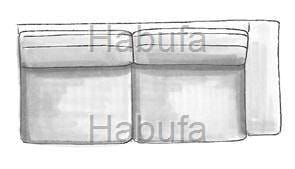 Habufa Sofas Sydney 3-Sitzer - Armlehne rechts - fest