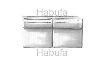 Habufa Sofas Sydney 3-Sitzer - Ohne Armlehnen - fest