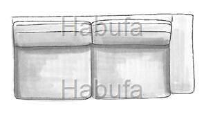 Habufa Sofas Sydney 3-Sitzer - Armlehne rechts - verstellbar