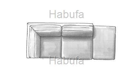 Habufa Sofas Sydney Ottomane groß - rechts