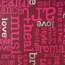 Oschmann Prestige 100 x 220 13 717800 Letters 4 rot gemustert