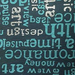 Oschmann Prestige 100 x 220 13 717900 Letters 2 blau gemustert