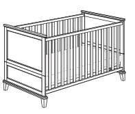 Paidi Sophia Betten Kinderbett mit Airwell-Comfort-Rost