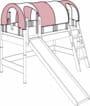 Paidi Zubehör Planwagen-Dach 4 Einstiege