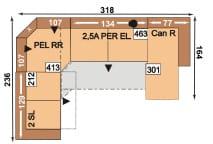 Polipol Sofas Linares-Joella 2SL-PELRR-2,5APEREL-CANR
