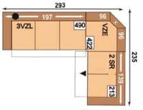 Polipol Monroe-Memphis 3VZL-VZE-2SR