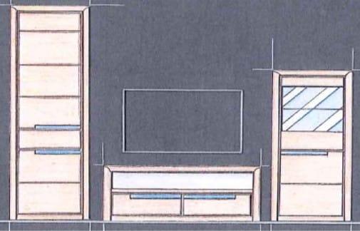 Quadrato Wohnzimmer Florenz Kombinationen
