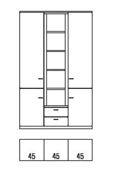 Rietberger Möbelwerke Wohnmöbel Allegro Vitrinen