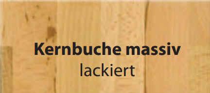 Standard-Furniture Tische Emanuela 125 80 75 Kernbuche massiv lackiert