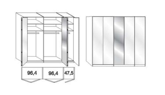 Wiemann Schlafzimmer Loft Gleittüren-Panoramaschränke