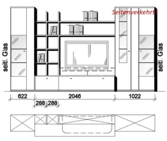 Wöstmann Wohnzimmer Bari-3000 - Walsrode Kombination