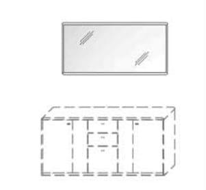 Wöstmann Wohnzimmer Bari-3000 - Walsrode Wandspiegel