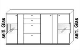 Wöstmann Wohnzimmer Bari-3000 - Walsrode Highboards