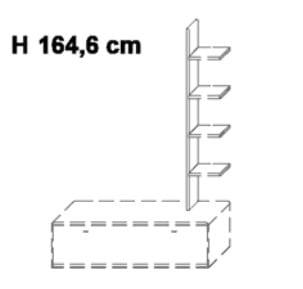 Wöstmann Wohnzimmer Bari-3000 - Walsrode Stollen-Elemente / Zwischenbauelemente