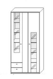 Wöstmann Wohnzimmer Bari-3000 - Walsrode Kombi-Schrank