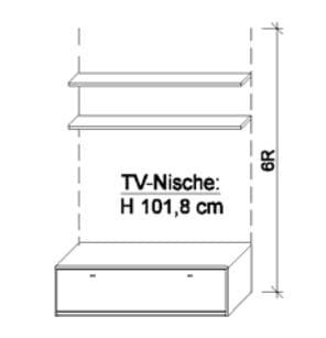 Wöstmann Wohnzimmer Bari-3000 - Walsrode Medien-Zwischenbauelemente