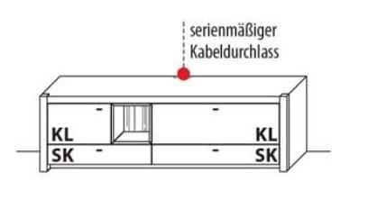 Wöstmann Wohnzimmer WM 1830 - Wanda TV-Bank / Lowboarde